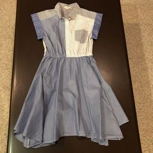Crewcuts Mashup Handkerchief Striped Dress Size 14